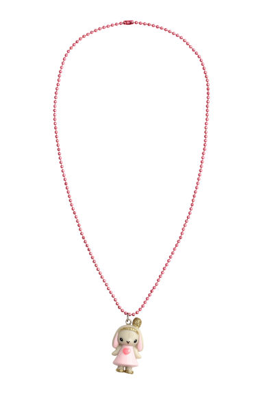 Necklace with animal pendant - Light pink/Rabbit - Kids | H&M GB