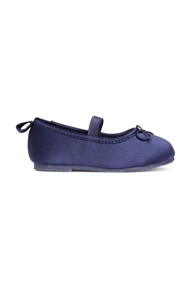 b3604e9f8 Ballet pumps - Dark blue - Kids | H&M ...