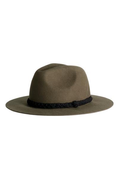 9dde78d0ffe88 Wool hat - Dark khaki green - Ladies
