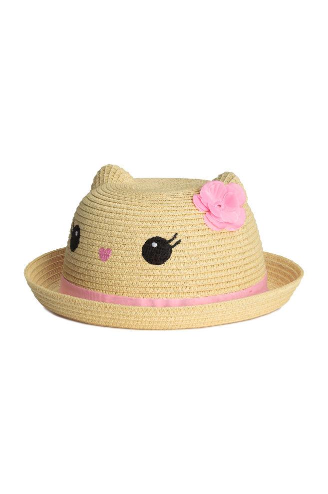 Chapéu de palha com orelhas - Natural - CRIANÇA  51c5f179de2