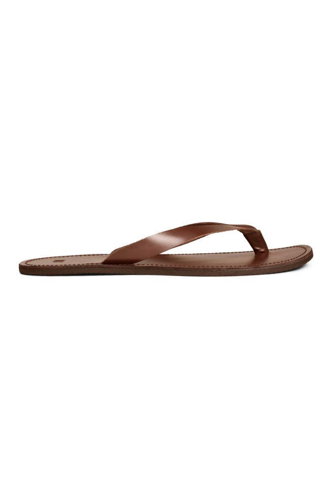 79f36eecc Leather flip-flops - Dark brown - Men
