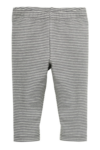 Patterned leggings - Grey/Striped - Kids | H&M GB