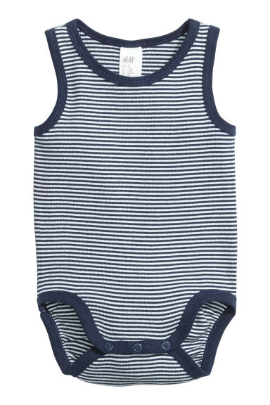 2-pack sleeveless bodysuits - White/Anchor - Kids | H&M
