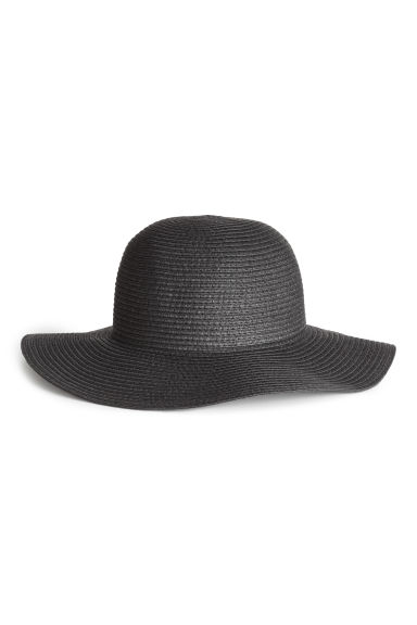 Straw hat - Black - Ladies | H&M GB