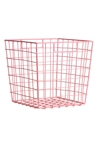 Metal basket - Pink - Home All | H&M GB