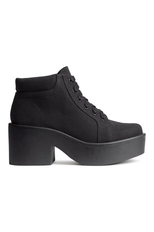 14e79fc0e79 Canvas platform boots - Black - Ladies