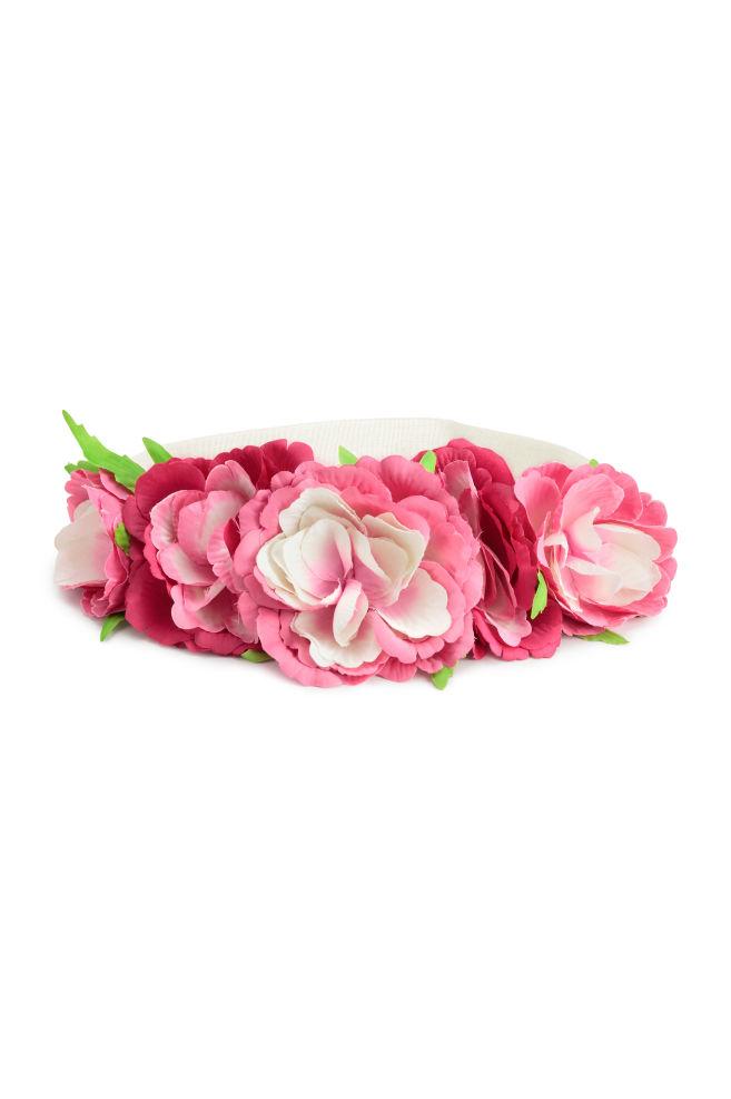 b32f0e41e74b Čelenka s kvetmi - ružová - DETI