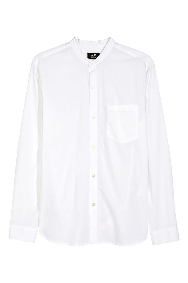1f5d50e166 Gallér nélküli ing - Fehér - FÉRFI   H&M ...