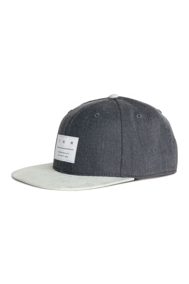 Cap with an appliqué - Dark grey - Men | H&M
