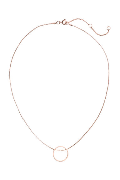 Necklace with a pendant - Rose gold-coloured - Ladies | H&M CN