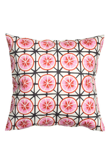 Patterned cushion cover - White/Grapefruits - Home All | H&M GB