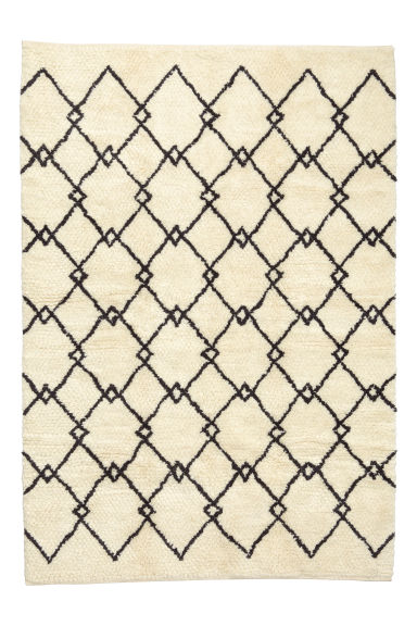 Long-pile rug in a wool blend - Natural
