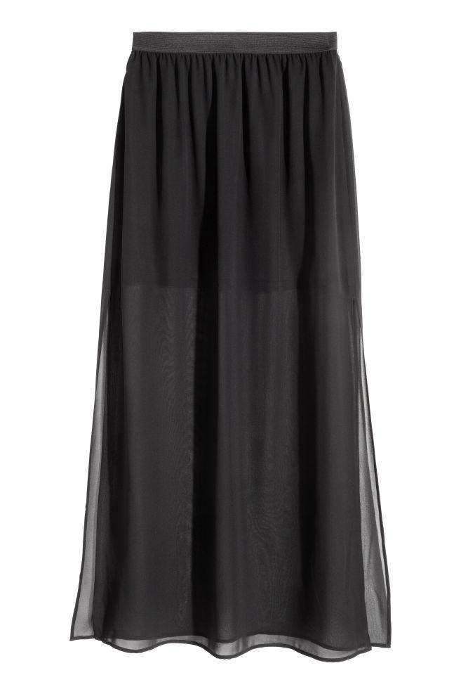 8ea4f1571c ... Chiffon skirt - Black - | H&M ...