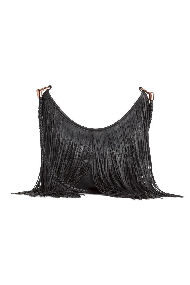 915b3fddc Сумка хобо с бахромой - Черный - Женщины | H&M ...