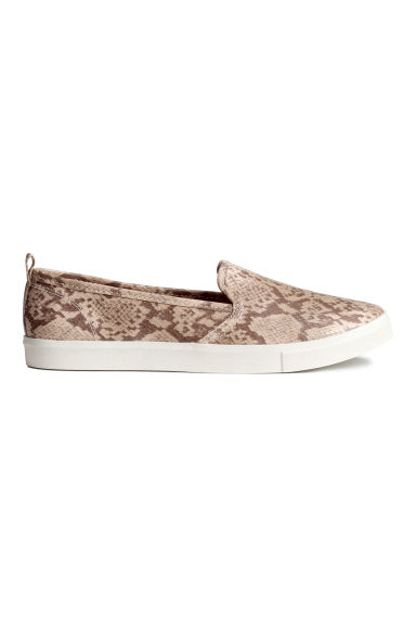 Slip-on trainers - Snakeskin print - Ladies | H&M GB