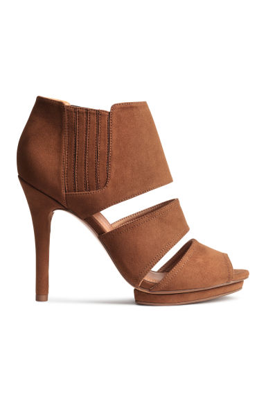 Peep-toe ankle boots - Brown -  | H&M CN