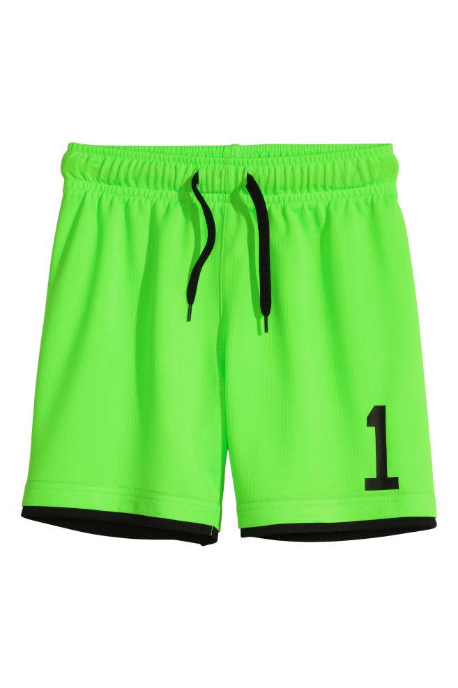 fac898c1b3990 Short de football - Vert fluo - ENFANT | H&M ...