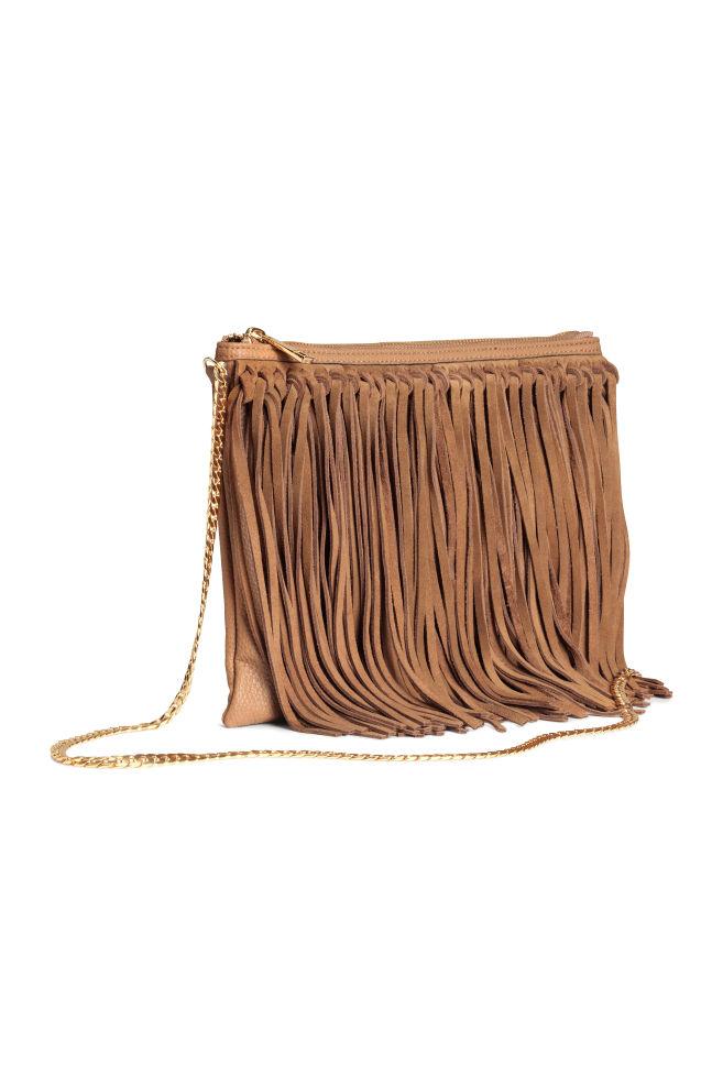 6c5a3dd83 Сумка с замшевой бахромой - Коричневый - Женщины | H&M ...