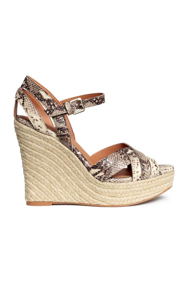 0a31b654d54b Wedge-heel sandals - Snakeskin print - Ladies