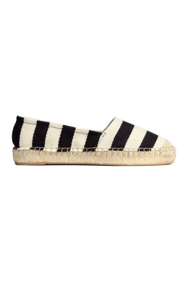 Striped espadrilles - Black/White - Ladies | H&M GB