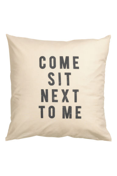 Text print cushion cover - Natural white - Home All | H&M GB