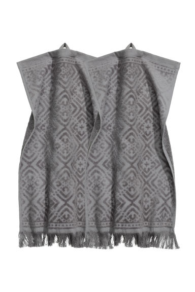 2-pack guest towels - Dark grey - Home All | H&M GB