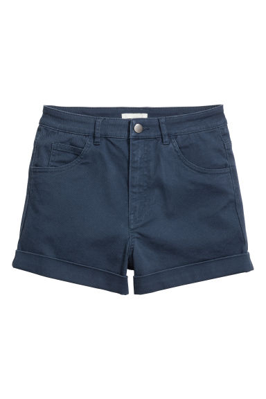 Shorts in twill High waist - Blu scuro -  | H&M CH