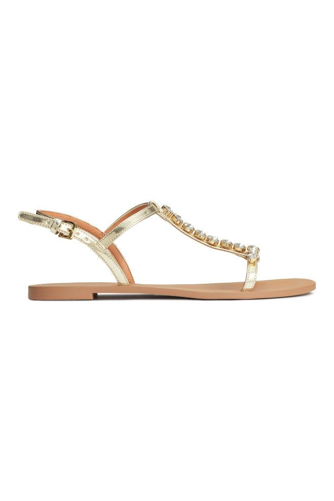 7a3733aef60d Štrasové sandále - zlatá - ŽENY