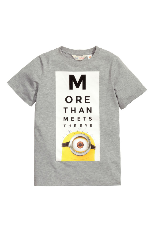 2983ee089 Printed T-shirt - Grey/Minions - Kids | H&M ...