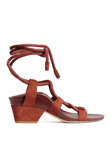 Sandals in suede and leather - Rust - Ladies | H&M GB