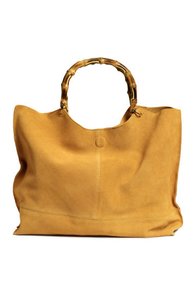Suede shopper with clutch bag - Mustard yellow - Ladies | H&M GB