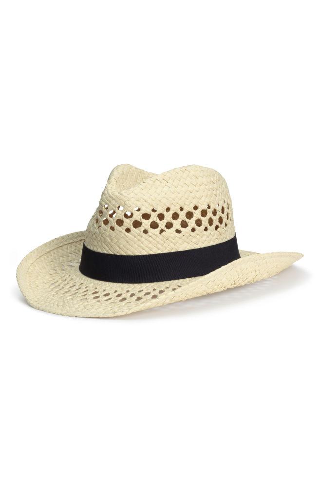 Cappello di paglia traforato - Naturale - DONNA  a71cb1aac57c