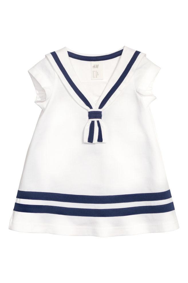 7901eb57c8 Sukienka marynarska - Biały - Dziecko