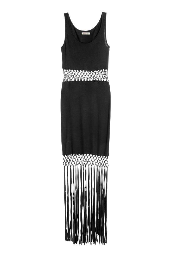 2a4979cff Šaty so strapcami - čierna -   H&M ...