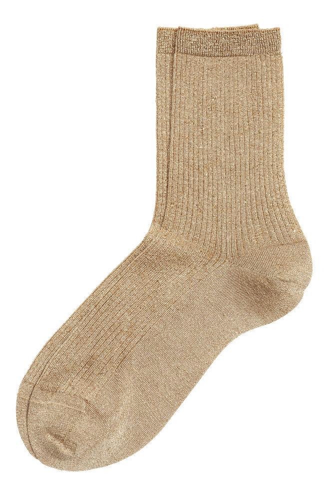 5baf5e1f57 Csillámló zokni - Arany - NŐI | H&M ...