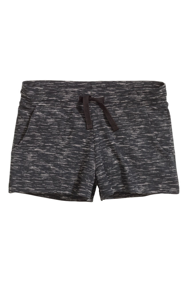 Short en jersey - Noir chiné - ENFANT   H M ... 84eea68eafc6