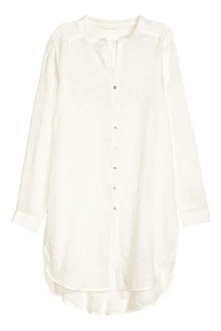 Blusa larga de lino
