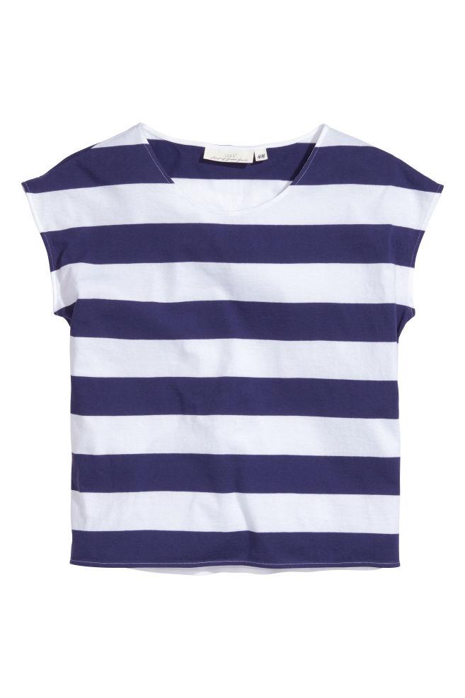 b4c89de7a48d9c T-shirt a righe larghe - Blu scuro - DONNA   H&M ...