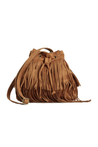 Bucket bag with fringes - Camel -  | H&M GB