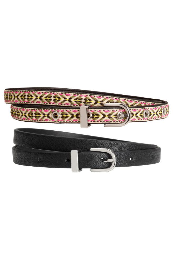 fa18ed435cdc 2 db-os öv szett - Fekete/mintás - | H&M ...