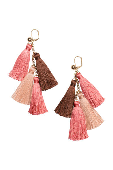 Earrings with tassels - Powder pink - Ladies | H&M GB