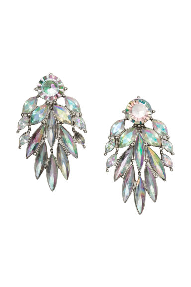 Sparkly earrings - Silver/Sparkly gems -  | H&M GB