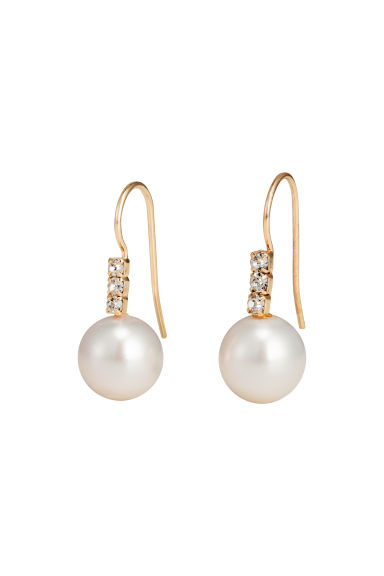 Pearly earrings - Gold/White - Ladies | H&M GB