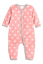 7a45683bb Fleece all-in-one pyjamas - Light grey Stars - Kids