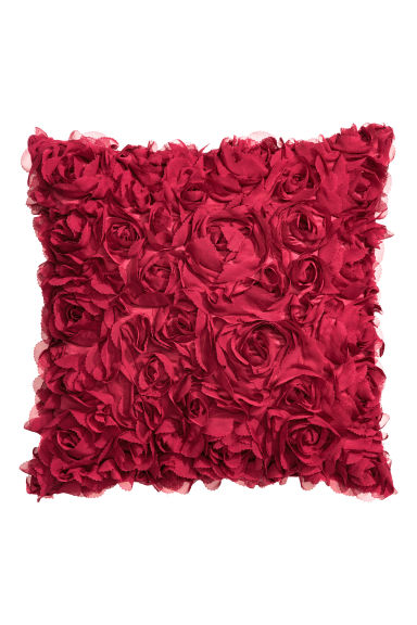 Satin cushion cover - Red - Home All | H&M GB