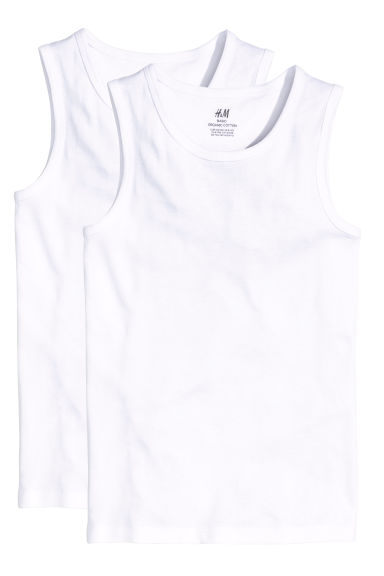 Set van 2 singlets - Wit -  | H&M BE
