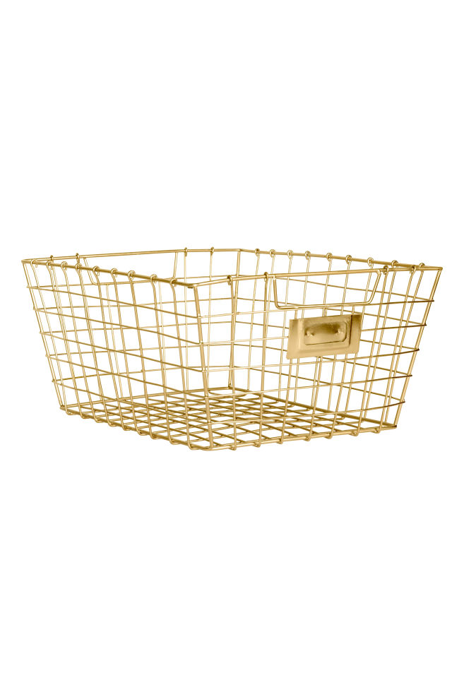 7a89fcba4289 Storage basket - Gold - Home All