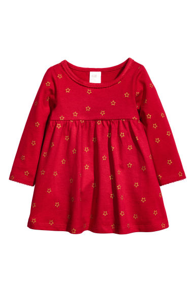 平紋洋裝 - Red/Star - Kids | H&M
