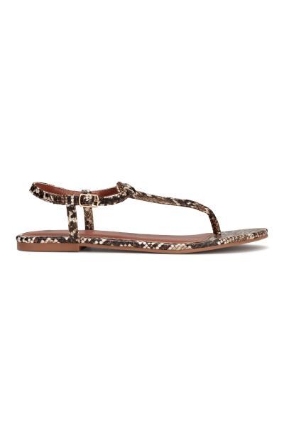 5299c71ae58e Toe-post sandals - Snakeskin print - Ladies