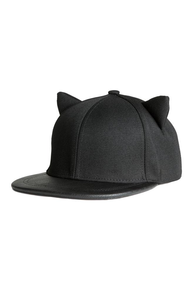 7c1fc674d89 Cap with ears - Black - Ladies